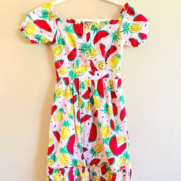 Vintage Fruit Print Dress